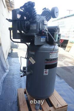 Ingersoll-Rand T30 Air Compressor 7.5 HP 80 Gallon Vertical Tank 200 PSI