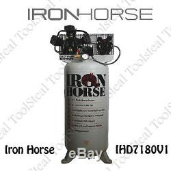 Iron Horse 7-HP 80-Gallon Single Stage Air Compressor (208/230V 1-Phase) NEW