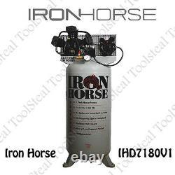 Iron Horse IHD7180V1 7-HP 80-Gallon Single Stage Air Compressor Single Phase