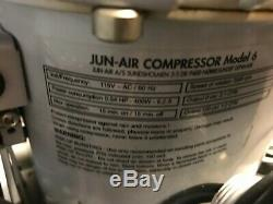 JUN-AIR MODEL 6 6-15 15 LITER 4 GALLON Ultra Quiet COMPRESSOR Chiropractic Table