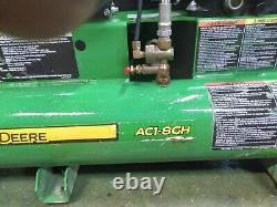 John Deere PR1-8GM 8 Gallon Twin Tank Single Stage Air Compressor PR1-8GM