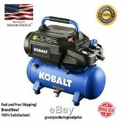 Kobalt 3-Gallon Single Stage Portable Electric Hot Dog Air Compressor Steel Tank