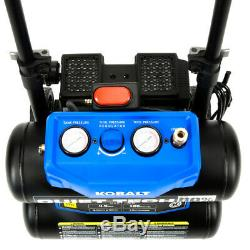 Kobalt Quiet Tech 3320443 4.3-Gallon Portable Electric Twin Stack Air Compressor