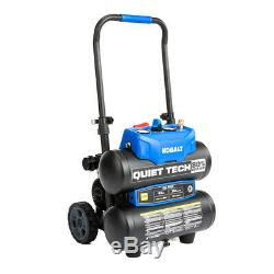 Kobalt Quiet Tech 4.3-Gallon Portable Electric Twin Stack Air Compressor