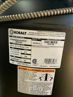 Kobalt air compressor 60 gallon 3.7 hp