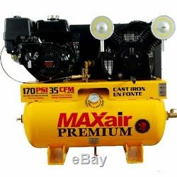MAXair 13-HP 30-Gallon Truck Mount Air Compressor with Electric Start Honda Engine