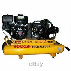 MAXair 9-HP 10-Gallon Gas Wheelbarrow Air Compressor with Honda Engine