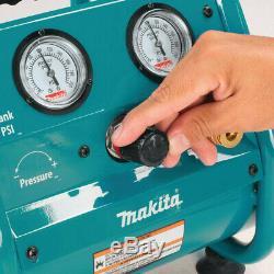 Makita. 6 HP 1 Gallon Oil-Free Compact Air Compressor AC001 New