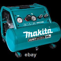 Makita MAC320Q-R Quiet Series 11/2 HP 3 Gallon OilFree Electric Air Compressor