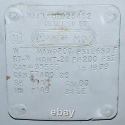 Manchester 80 Gallon Vertical Air Receiver Tank Compressor Storage 200PSI 24Dia