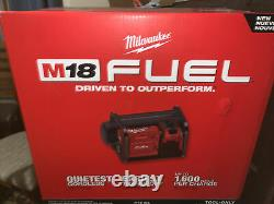 Milwaukee 2840-20 M18 FUEL 2 Gallon Compact Quiet Cordless Air Compressor New