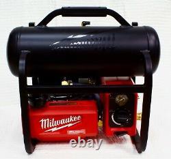 Milwaukee M18 FUEL 2840-20 Quiet 2 Gallon Compressor18V Li-Ion Cordless MINT OB