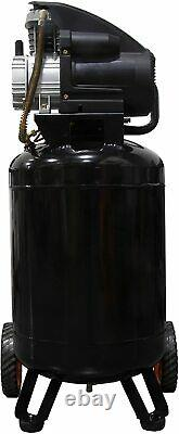 Model 2202 20-Gallon Oil-Lubricated Portable Vertical Air Compressor WEN Black