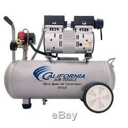 NEW 5.5 Gallon 1.0 HP (Ultra-Quiet 60dB) Oil-Free Portable Air Compressor Wheels