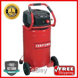 NEW Craftsman 20 Gallon 1.8 HP Vertical Oil-Free Air Compressor 155 Max PSI