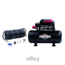 New Briggs and Stratton 3 gallon Air Compressor with 8 Piece Accessory Kit
