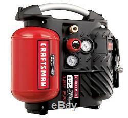 New CRAFTSMAN 1.2gal Gallon Oil-Free Electric Portable AIR COMPRESSOR HOSE