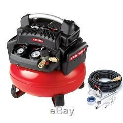 New! CRAFTSMAN 6 Gallon 1.1 HP Oil-Free PANCAKE AIR COMPRESSOR Portable 150 PSI