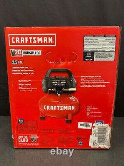 New CRAFTSMAN CMCC2520M1 20V Brushless 2.5 Gallon Cordless Air Compressor