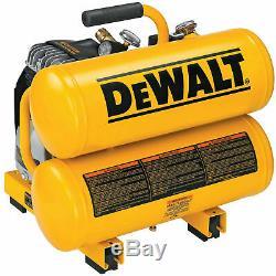 New DeWALT D55151 1.1 HP 4 Gallon 100 PSI Electric Air Tool Compressor