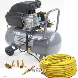 PORTABLE 3.5 HP 10 GALLON HOTDOG TANK AIR COMPRESSOR withCONTINENTAL 50ft HOSE