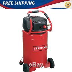 PORTABLE AIR COMPRESSOR VERTICAL CRAFTSMAN 20 Gallon Oil Free 1.8 HP Electric