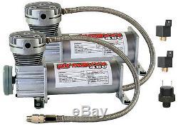 Pewter Air Compressors AFC Manifold Valves 2600 Air Bags Clear 7 Box 5 Gal Tank