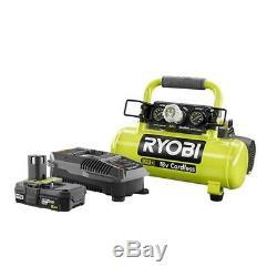 Portable Air Compressor Cordless Electric Metal Light Weight 1 Gallon RYOBI 18v