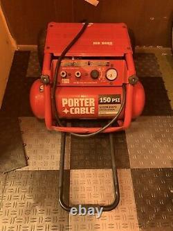 Portable Air Compressor Porter Cable C3151 4.5 Gallon 150 PSI Job Boss Used