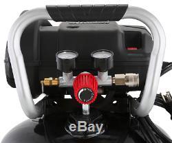 Portable Air Compressor Quiet 20 Gallon 175 psi Husky High Performance Inflator