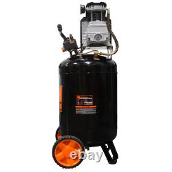 Portable Vertical Air Compressor 2202 Oil-Lubricated 20-Gallon Tank Tool Wen