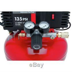 Porter-Cable 135 PSI 3.5 Gallon Oil-Free Pancake Compressor PCFP02003 New