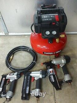 Porter Cable 6 Gallon 150 PSI Pancake Air Compressor Kit Model# PCFP3KIT
