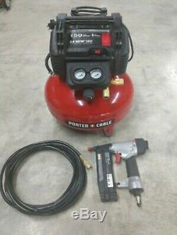 Porter Cable 6 Gallon 150 Psi Compressor Brad Nailer Combo Model# PCFP12236