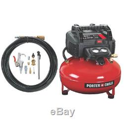 Porter-Cable 6 Gallon Pancake Air Compressor and Accessory Kit C2002-WK New