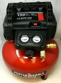 Porter-Cable C2002 150 PSI 6 Gallon Oil-Free Pancake Air Compressor MD453