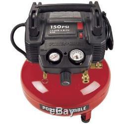 Porter-Cable C2002-WK 150psi 6-Gallon 120Volt Oil-Free Pancake Compressor Kit