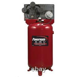 Powermate PLA4708065 4.7 HP 80 Gallon Oil-Lube Stationary Air Compressor New