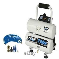Pulsar 2 Gallon Oil-Free Air Compressor with Accessories and 18 GA Nail Gun