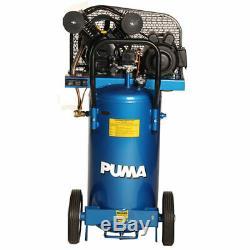 Puma 2-HP 20-Gallon (Belt Drive) Dual-Voltage Cast-Iron Air Compressor