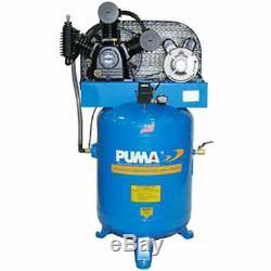 Puma TE-5040V, 5 HP, Two-Stage Compressor, 40 Gallon, Vertical, 175 PSI, 14 CFM