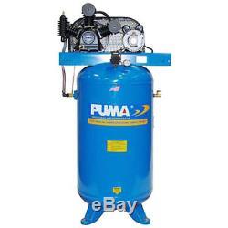 Puma TE-5080V 208-230-Volt 5-HP 80-Gallon Two-Stage Vertical Air Compressor