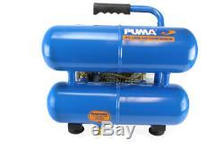 Puma Twin Tank 12 Volt 2 Gallon Oil-Less Air Compressor