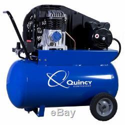 Quincy 2-HP 20-Gallon (Belt Drive) Cast-Iron Portable Air Compressor