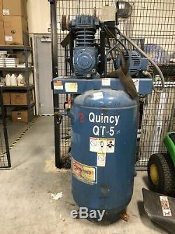 Quincy QT Pro 5-HP 80-Gallon Two-Stage Air Compressor With Arrow Pneumatic Dryer