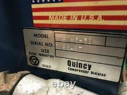 Quincy QTSV-5-30 Air Compressor 5 HP Motor, 30 Gallon Tank, 230V / 460V 3 PH