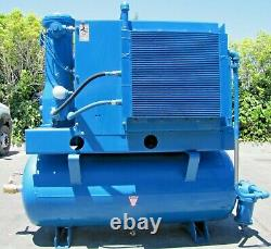 Quincy Rotary Screw Air Compressor with 120 Gallon Tank 40hp Marathon Electric