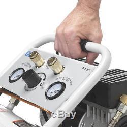 Quipall 2-1-SIL Oil Free Compressor, 1.0 HP, 1.6 gallon, Steel Tank New