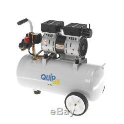 Quipall 6-1-SIL Oil Free Silent Compressor, 1.0 HP, 6.3 Gallon, Steel Tank New