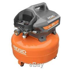 RIDGID 6 Gallon Portable Pancake Air Compressor 150 Max PSI Corded Electric